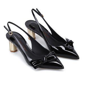Salvatore Ferragamo 'Aulla' Patent Slingback Heels